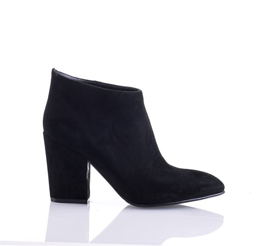 Siyah Süet Ankle Bootie - ARIA