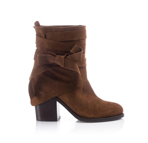 Taba Suede Ankle Bootie - HAILEY