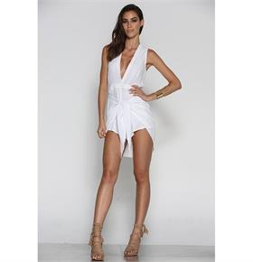 ARIA PLAYSUIT - WHITE