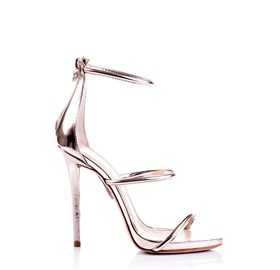 Gold Platform High Heels - LISA