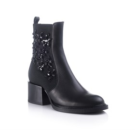 Siyah Ankle Bootie -AMELIA