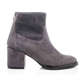 Gri Suede Ankle Bootie - NORA