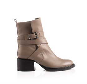 Taupe Ankle Bootie - PIPER